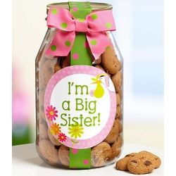 I'm a Big Sister Chocolate Chip Cookie Jar