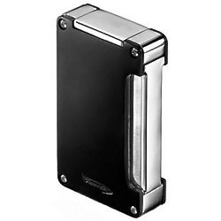 Matte Finish Double Action Single Torch Black Lighter