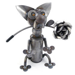 Latin Lover Metal Chihuahua Sculpture