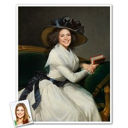 Custom Portrait of Marie-Charlotte from Photo Print