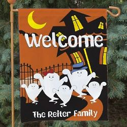 Halloween Ghost Family Garden Flag