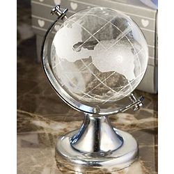 You Mean the World To Me Crystal Globe