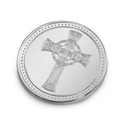 Personalized Silver Cross Coin