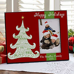 Personalized Christmas Tree Picture Frame