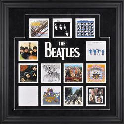 The Beatles UK Album Covers Framed Wall Art
