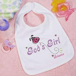God's Girl Personalized Baby Bib