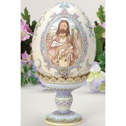 Good Shepherd Easter Egg on Pedestal