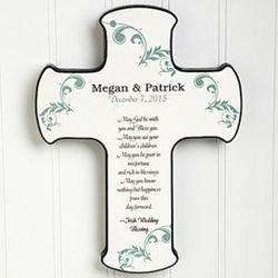 Irish Wedding Blessings Personalized Wall Cross