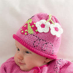 Baby Girl's Ladybug Love Hand-Knit Hat
