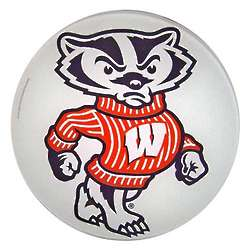 Bucky Badger Glass Cutting Board