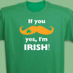 Mustache Irish T-Shirt