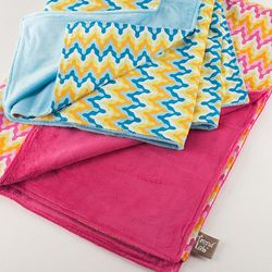 Chevron Print Baby Receiving Blanket