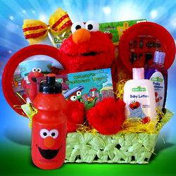 Elmo Goodies Gift Basket