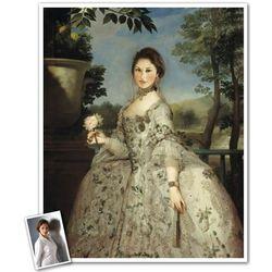 Princess of Asturias Custom Photo Caricature Print