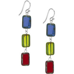 Handcrafted Mosaic Beaded Earrings