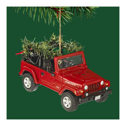 Jeep Christmas Ornament.Jeep Collectible Christmas Ornament By Carlton Cards