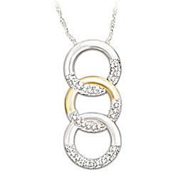 Trilogy of Love Circle Diamond Pendant Necklace