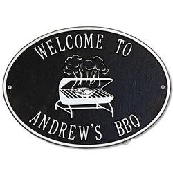 Personalized BBQ Grill Outdoor Metal Plaque