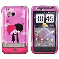 Pink Emo Love HTC Thunderbolt Hard Protective Phone Cover