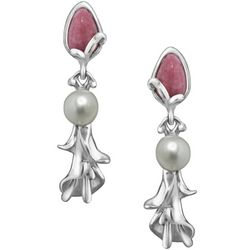 Rhodonite Calla Lily Earrings