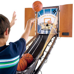 Hide-A-Hoop Indoor Arcade Basketball