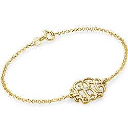 18k Gold Plated Monogram Bracelet