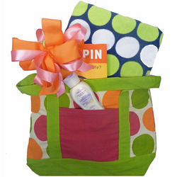 Beach Themed Gift Basket with Book