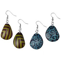 Batik Tagua Earrings