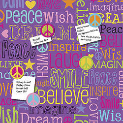 Empowerment Words Canvas Magnet Board