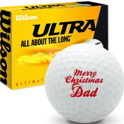 Merry Christmas Dad Ultra Ultimate Distance Golf Ball