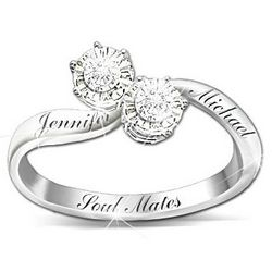 Personalized Soul Mates Diamond Ring
