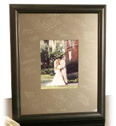 Black Engravable Signature Frame