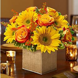 Modern Enchantment for Fall Flower Arrangement