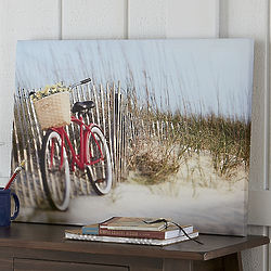 Bicycle on the Beach Canvas Print