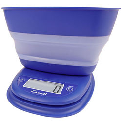 Frost Blue Collapsible Bowl Digital Scale