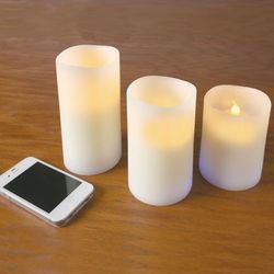 Bluetooth Speaker Flickering Candle Set