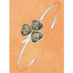 Amber Shamrock Cuff Bracelet