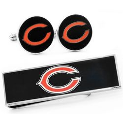 Chicago Bears Cuff Links and Money Clip Gift Set
