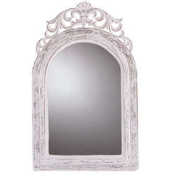 White Carved Wall Mirror