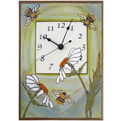 Busy Garden Bees Ceramic Wall Clock