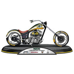 Green Bay Packers Super Bowl Motorcycle Sculpture