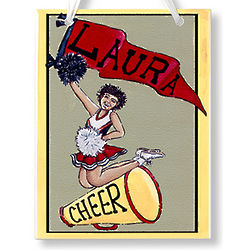 Personalized Cheerleader Name Plaque