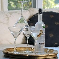 Personalized Martini Glass Set