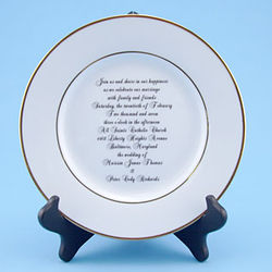 Personalized Wedding Invitation Plate