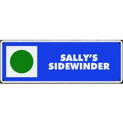 Personalized Metal Easy Ski Trail Sign
