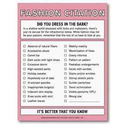 Fashion Citation Nifty Note