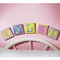 Personalized Baby Art Canvas Letters