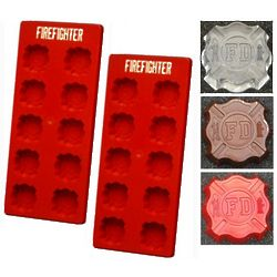 Firefighter Emblem Silicone Trays