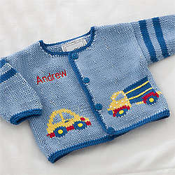 Personalized On the Go Embroidered Hand-Knit Sweater