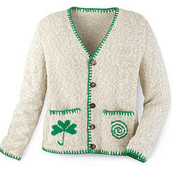 Simply Perfect Tweedy Shamrock Cardigan